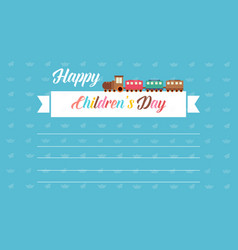 Children day card style cute background vector