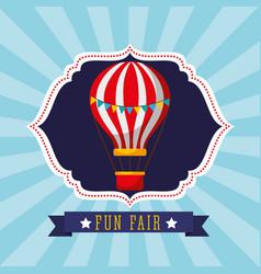Classic hot air balloon carnival fun fair festival vector