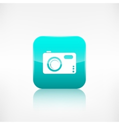 Digital photo camera icon Application button vector
