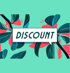 Discount in design banner template for web vector