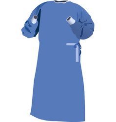 Disposable surgical gown corona virus prevention vector