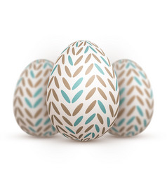 easter egg set happy easter painted egg vector image