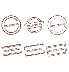 Editorial stamps vector
