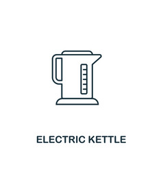 electric kettle icon thin style design from vector image
