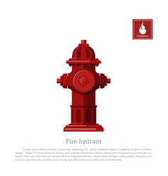 Fire hydrant on white background vector