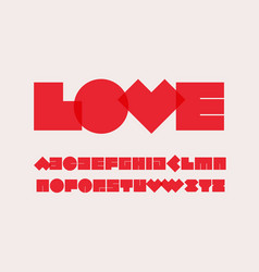 geometrical style alphabet heavy geometric spot vector image