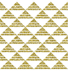 gold glitter geometric pattern background vector image