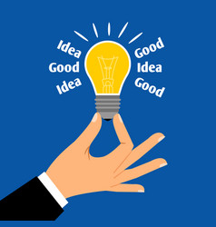 Good business idea light bulb concept vector