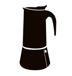 Isolated coffee pot vector