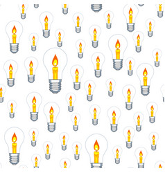 lamp and candle seamless pattern vector image