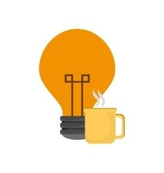 Lightbulb and mug icon vector