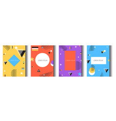 magazine banner set geometric vector image