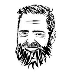 Man with a beard vector