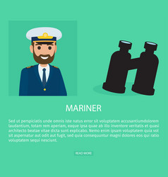 mariner profession fat web banner vector image