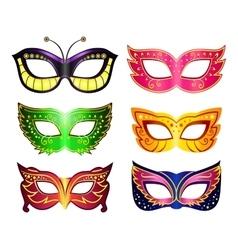 Masquerade masks vector image