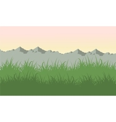 Mountain landscape at vector