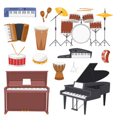 musical instruments music concert vector image