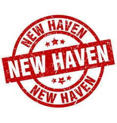 New haven red round grunge stamp vector
