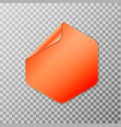 orange hexagon peel vector image
