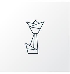 Origami icon line symbol premium quality isolated vector