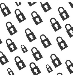 Padlock security object background vector