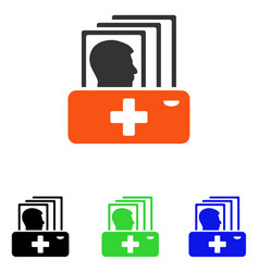 patient catalog flat icon vector image
