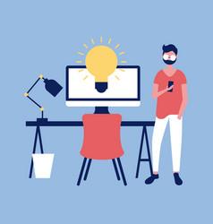 professional man work vector image