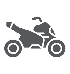 quad bike glyph icon transport and drive vector image