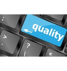 Quality Service Enter Button Keyboard vector image