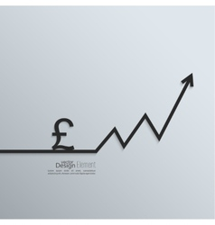 Ribbon pound sign and exchange the curve arrow vector image