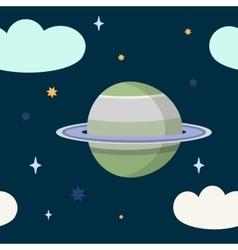 Seamless night sky pattern in cartoon style vector image
