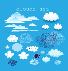 set different clouds vector image