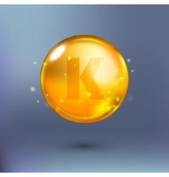 Shining golden essence circle droplet vector image