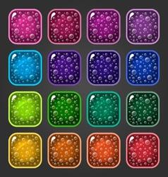 Shiny button 4 vector
