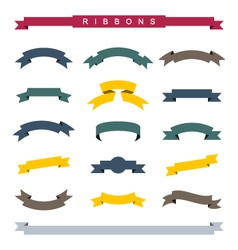Simple ribbons vector image