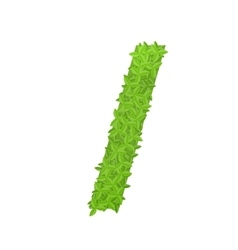 Slash sign consisting of green leaves vector image