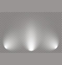 Spotlight light scene vector