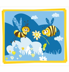 Spring bees vector