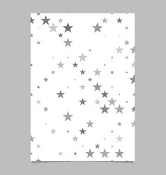 Star pattern brochure template - stationery vector