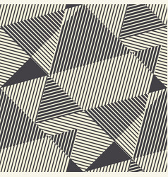 striped modern geometric seamless pattern vector image