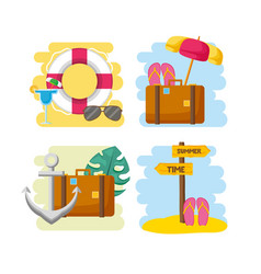 summer time holiday vector image