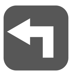 The left icon Direction and arrow navigation vector image