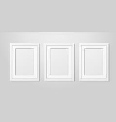 three realistic mofern interior white blank vector image