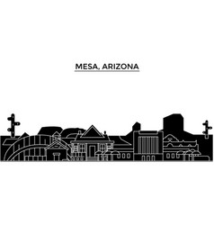 Usa mesa arizona architecture city vector