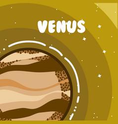 Venus milkyway planet vector