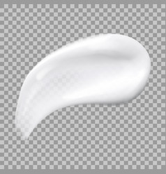 White cream smear isolated on transparent vector