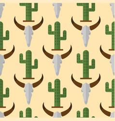 cactus nature desert flower mexican succulent vector image