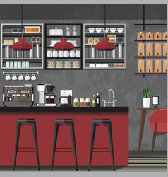 design coffe shop amp cafe vector image vector image