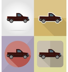 transport flat icons 07 vector image vector image