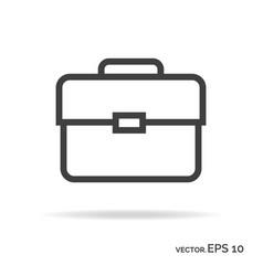 briefcase portfolio outline icon black color vector image vector image